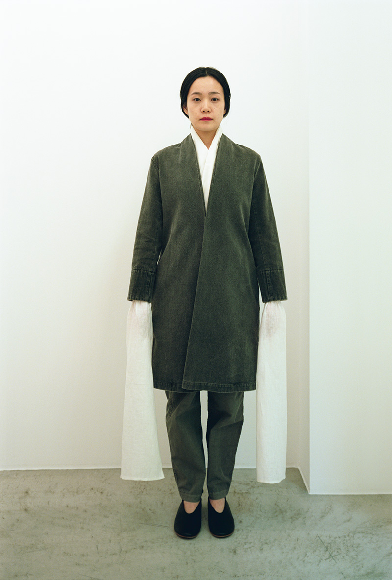 Hand-spun cotton haori