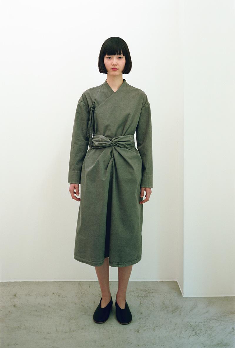 Organic cotton koromo wrapped dress. Comfortable wrapped koromo made from  organic cotton broadcloth. 0da2ad1ed00a2